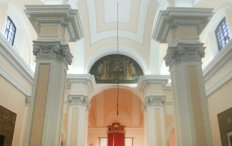 PINTADO INTERIOR IGLESIA CASTRENSE  DEL SANTO ANGEL CUSTODIO (CADIZ)