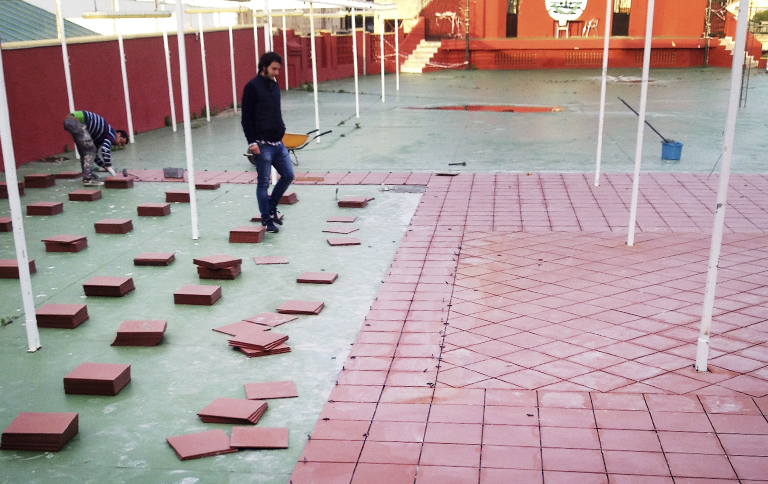 Solería patio exterior Club de Suboficiales