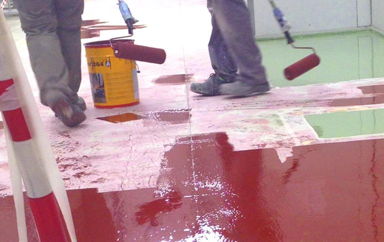 Pintado de suelo espoxi alestis